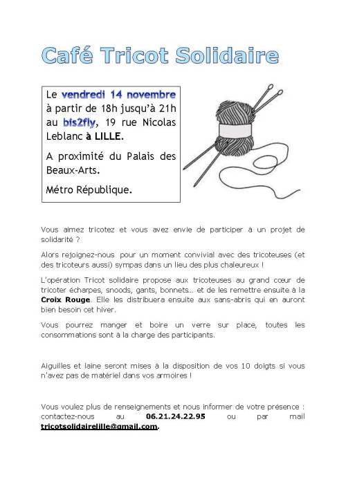Café Tricot Solidaire Lille