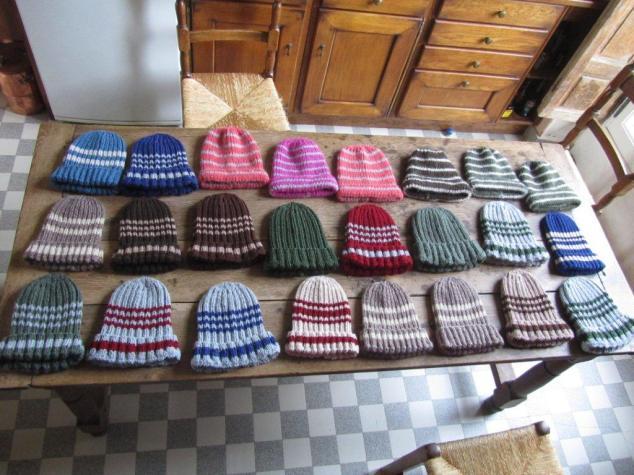tricot pour les sans-abris